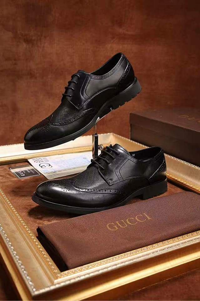 c8710c35a82 Black Gucci Dress Shoe - Classiqmen Shoes