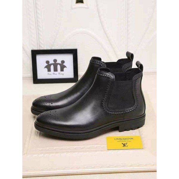 Louis Vuitton Black Quality Leather Boots