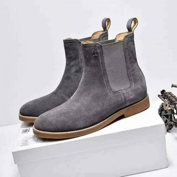 Louis Vuitton Charcoal Grey Boots