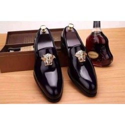 Varsace Black Glossy Design Dress Shoe