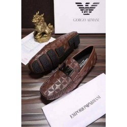 Armani Coffee Brown Loafers