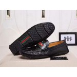 Black Leather Gucci Loafers