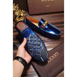 Gucci Shiny Blue Loafers