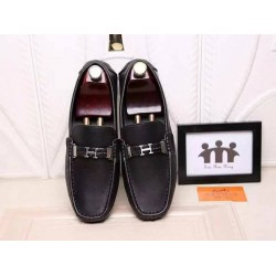 Hermes Black Loafers