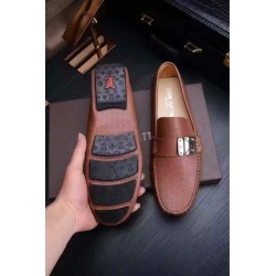 Louis Vuitton Quality Brown Loafers