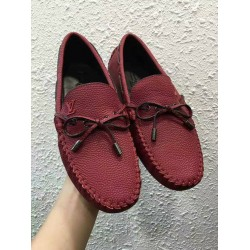 Louis Vuitton Wine color laced Loafers