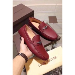SUPER COMFY OXBLOOD LOUIS VUITTON LOAFERS