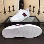 Embossed White Gucci Shoe