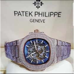 Patek Philippe nautilus diamond encrusted watch