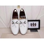 D&G White Loafers