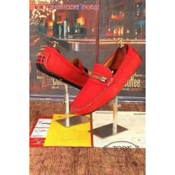 Classic Red Tods Loafers